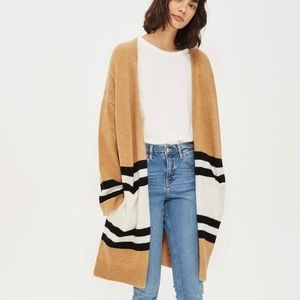 Topshop Striped Colorblock Cardigan
